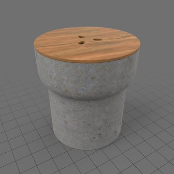 Side table with stone base