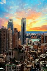Urban Light - Midtown Manhattan - Illustrated Skyline at Sunset