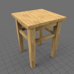 Corner table and stool
