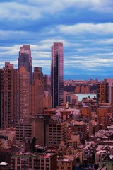Urban Light - New York Under Clouds