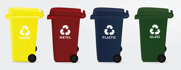 Recycle bin. vector illustration