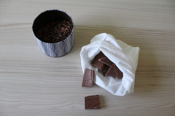 Tea and chocolate in bulk