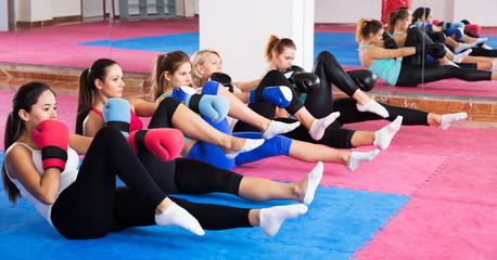 Women doing box exercises