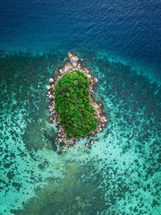 Aerial view of tropical island, Koh Lipe, Thailand