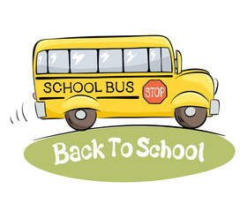"School bus / Vector illustration on a theme ""back to school"""