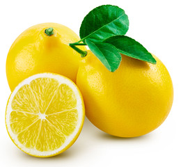 lemon fruit leaf