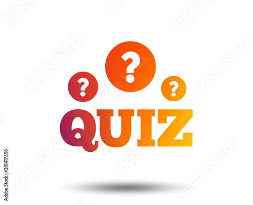 Quiz With Question Marks Sign Icon Questions And Answers Game