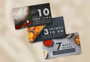 3 Food and Dining Web Banner/Header Layouts