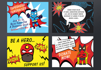 4 Superhero-Themed Event Posters