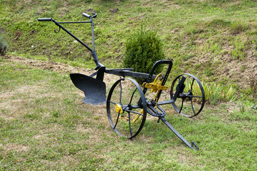 old horse plow