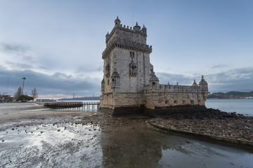 Belem tower is a famous landmark of the portuguese capital, Lisbon