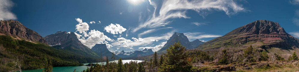 Panoramic view of East Glacier National Park