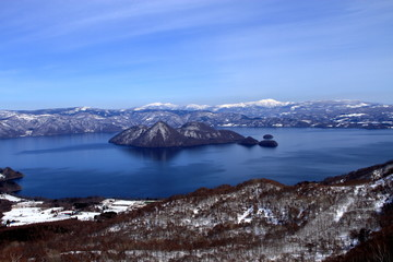 Photo sur Aluminium Pôle Landscape taken from Hokkaido, lake Toya, and its surroundings from the top of the mountain