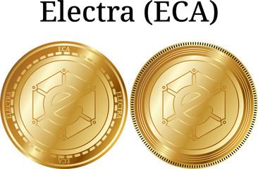 Set of physical golden coin Electra (ECA)