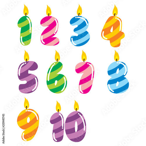 Birthday Candle Template Set