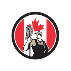 Canadian Industrial Cleaner Canada Flag Icon