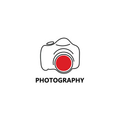 photography camera vector logo
