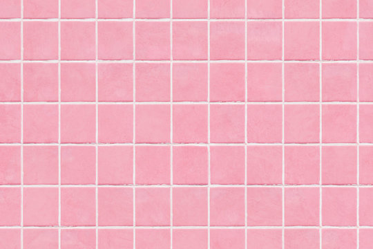 Pink tile wall texture background