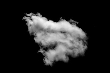 white cloud isolated black background sky