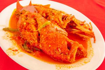 cari de poissons rouges à la sauce créole, île Maurice