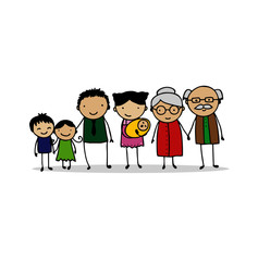 People generations at different ages. Man and woman aging - baby, child, teenager, young, adult, old people