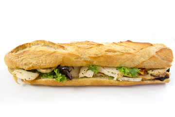Photo sur Toile Snack sandwich au poulet