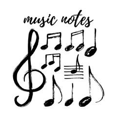 Vector Music notes big set