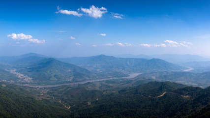 Panorama scenic Mekong river