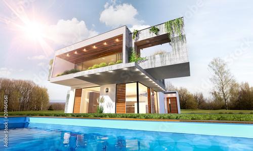 Belle maison moderne d\'architecte avec piscine\