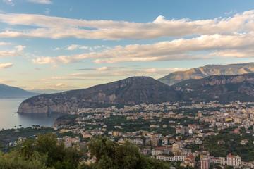 The beautiful view of Sorento, Italy.