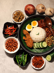 Asian food nasi lemak