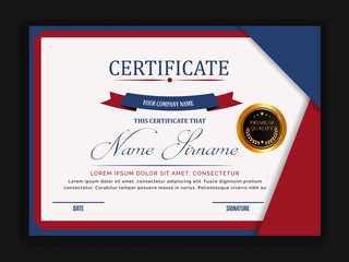 Creative certificate template with clean and modern pattern,Vector illustration
