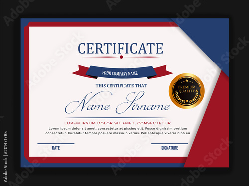 Creative Certificate Template With Clean And Modern Patternvector