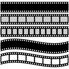 Vector illustration of film strip in flat style.