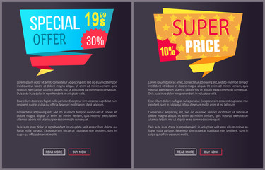 Special Offer Super Price Advert Promo Sticker Web