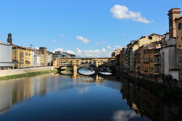 view of old bridge in Florence