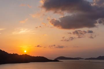 Sunrise in the Mergui Islands, Myanmar.