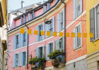 Milan, Italian pink facade