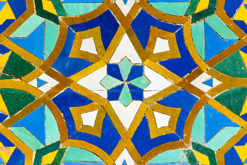 Moroccan tile with traditional patterns, Colorful Moroccan tiles