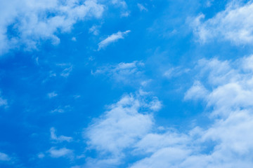 Blue sky background with white beautiful clouds