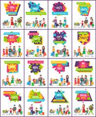 -70 Off Best Sale Posters Vector Illustration