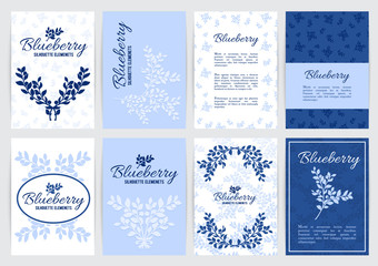 Blueberry A4 backgrounds