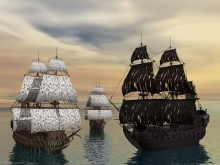 Segelschiffe auf den Weltmeeren