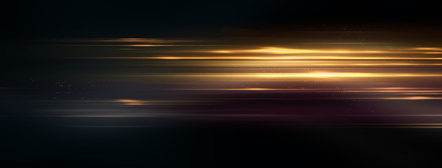 Wall Mural - Light and stripes move fast over dark background. Concept illustration