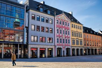 Fotomurales - Chemnitz, Sanierte Häuserzeile