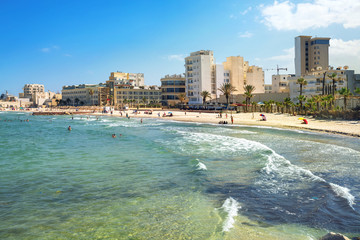Sousse beach. Tunisia, North Africa