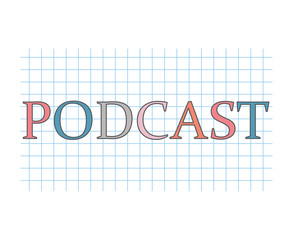 podcast concept- vector illustration