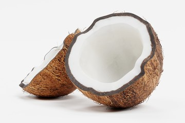 Realistic 3d Render of Coconut