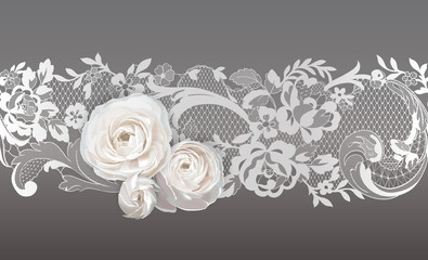 lace ribbon. flowers