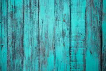 Blue color, grunge old scratched wood board textured background